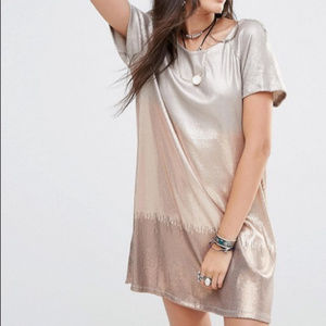 Free People Drenched In Sequins Dress XS